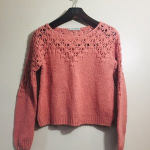 Maurice's knit sweater. Rise pink. Size Small